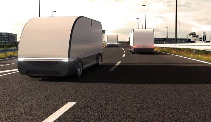 Испытания беспилотного грузовика прошли в Петербурге